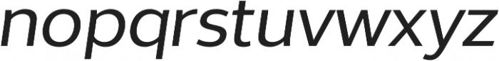 Without Sans Medium Italic otf (500) Font LOWERCASE