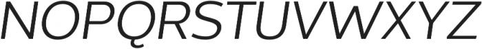 Without Sans Regular Italic otf (400) Font UPPERCASE
