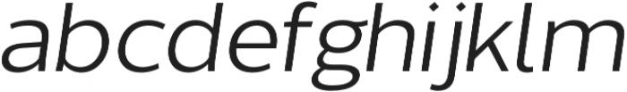 Without Sans Regular Italic otf (400) Font LOWERCASE
