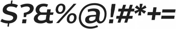 Without Sans Semibold Italic otf (600) Font OTHER CHARS