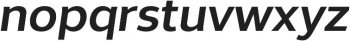 Without Sans Semibold Italic otf (600) Font LOWERCASE