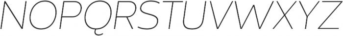 Without Sans Thin Italic otf (100) Font UPPERCASE