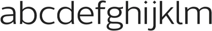 Without Sans otf (400) Font LOWERCASE