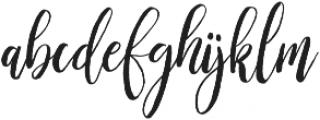 willbelove otf (400) Font LOWERCASE