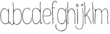 winter_time otf (400) Font LOWERCASE