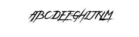 Wild Zova Font UPPERCASE