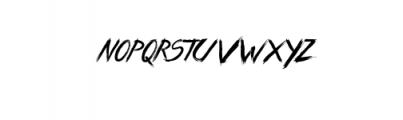 Wild Zova Font LOWERCASE
