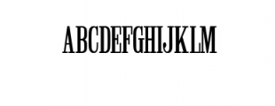Winchester Condensed Font Font UPPERCASE