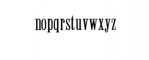 Winchester Condensed Font Font LOWERCASE
