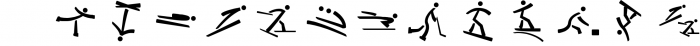 Winter Sports Pictograms Font Font LOWERCASE