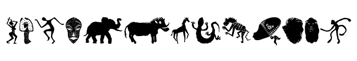 WILD AFRICA Font LOWERCASE