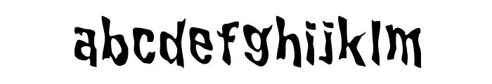 WILD2 Ghixm NC Font LOWERCASE