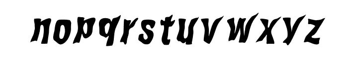 WILD2GhixmNC-BoldItalic Font LOWERCASE