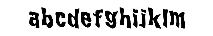 WILD2GhixmNC-Bold Font LOWERCASE