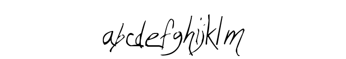 Wicca Script Font LOWERCASE