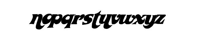 WickedSeventies Font LOWERCASE