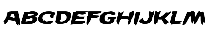 Wicker Man Expanded Italic Font LOWERCASE