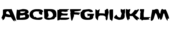 Wicker Man Expanded Font LOWERCASE