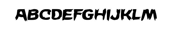 Wicker Man Semi-Italic Font UPPERCASE