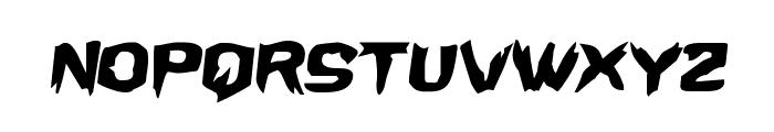 Wicker Man Semi-Italic Font LOWERCASE