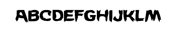 Wicker Man Staggered Font LOWERCASE
