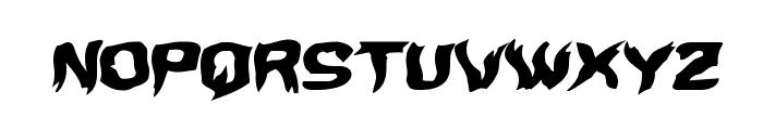 Wicker Man Warped Italic Font UPPERCASE