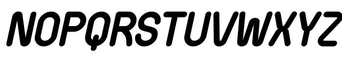 Wida Round Demo Bold Italic Font UPPERCASE