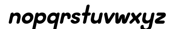 Wida Round Demo Bold Italic Font LOWERCASE