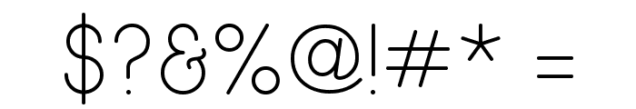 Wida Round Light Demo Font OTHER CHARS