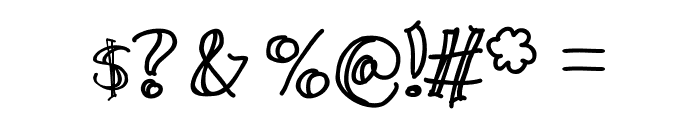 Wide Open Spaces Font OTHER CHARS