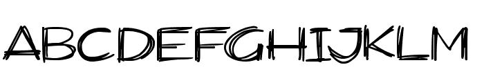Widescratch Font UPPERCASE