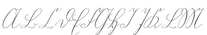 WiegelKurrent Font UPPERCASE