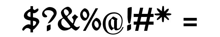 WieynckFrakturUNZ1L-Bold Font OTHER CHARS