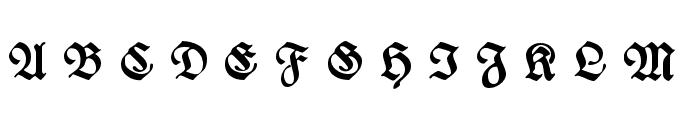 WieynckFrakturUNZ1L-BoldItalic Font UPPERCASE