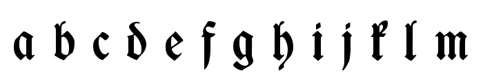 WieynckFrakturUNZ1L-BoldItalic Font LOWERCASE