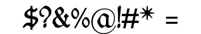 WieynckFrakturUNZ1L Font OTHER CHARS