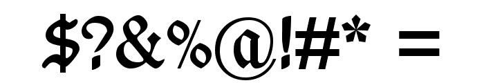 Wieynk Fraktur Zier Font OTHER CHARS