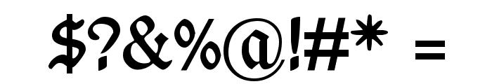 WieynkFraktur Bold Font OTHER CHARS