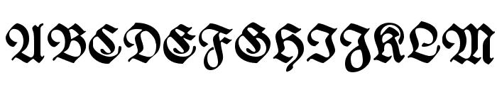 WieynkFraktur Bold Font UPPERCASE