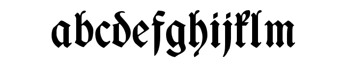 WieynkFraktur Bold Font LOWERCASE