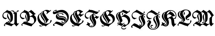 WieynkFrakturZier Bold Font UPPERCASE