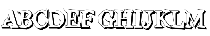 Wiggly Shadow Font UPPERCASE