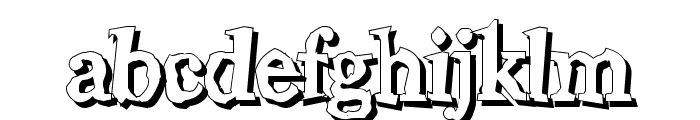 Wiggly Shadow Font LOWERCASE
