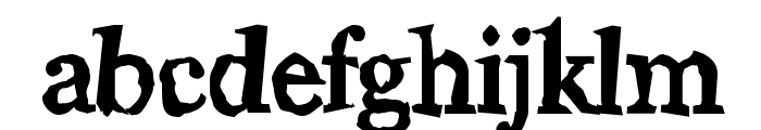 Wiggly Font LOWERCASE
