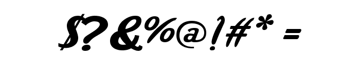 Wild Ride Font OTHER CHARS