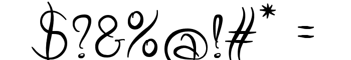 Wild Script Font OTHER CHARS