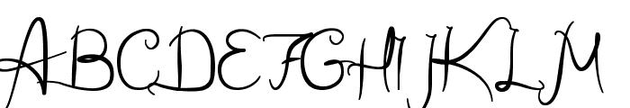 Wild Script Font UPPERCASE