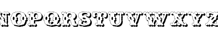 Wild West Shadow Font UPPERCASE
