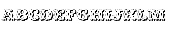 Wild West Shadow Font LOWERCASE