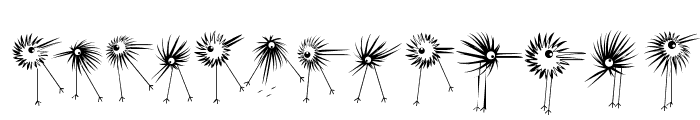 WildBirds Font LOWERCASE